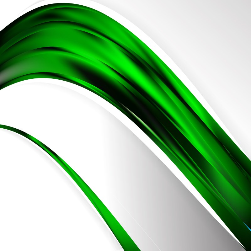 Cool Green Wave Business Background