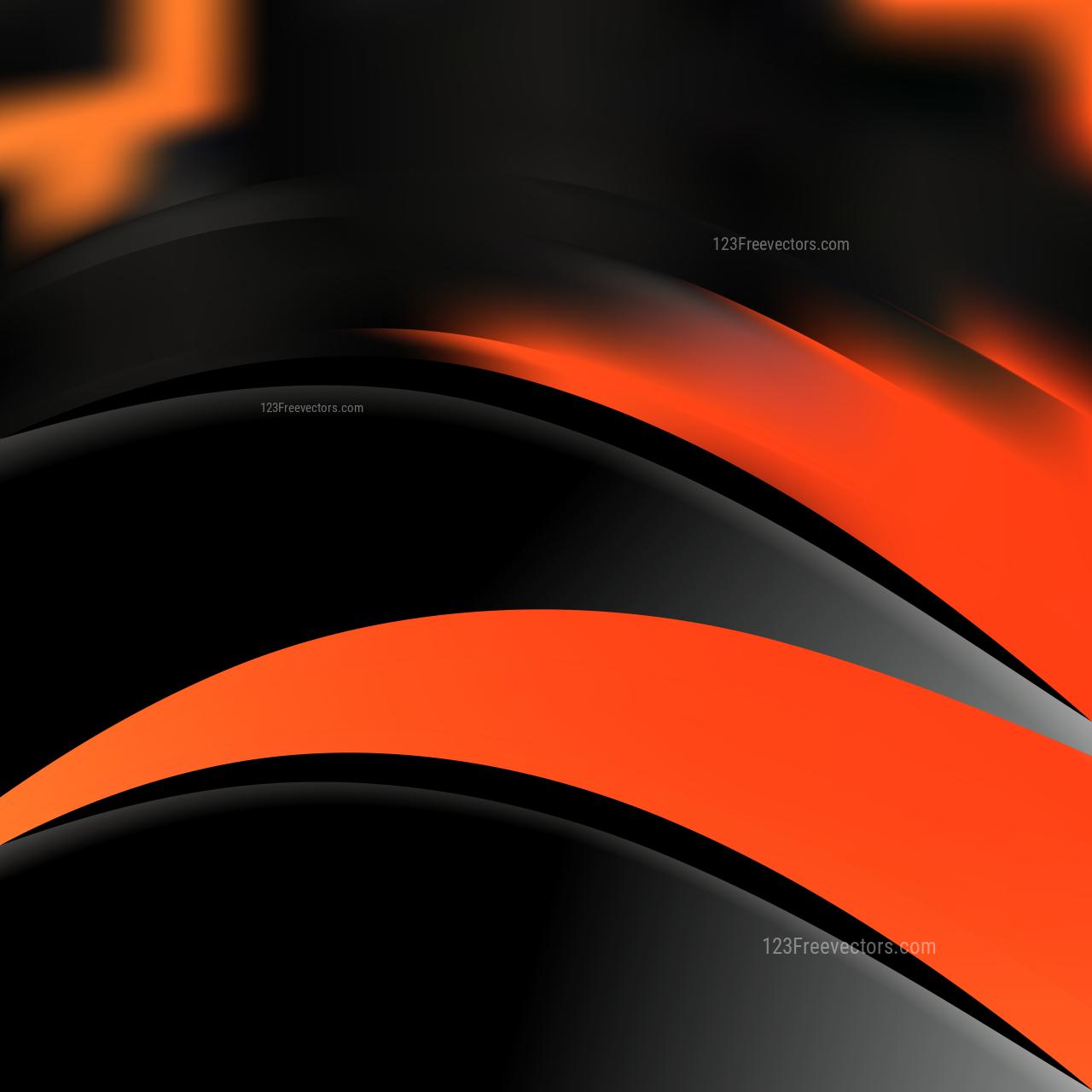 Cool Orange Wave Business Background Vector Art
