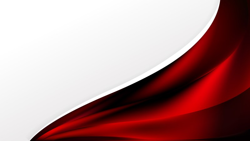 Abstract Cool Red Wave Business Background Illustration