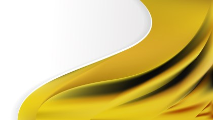 Abstract Cool Yellow Wave Business Background Design Template