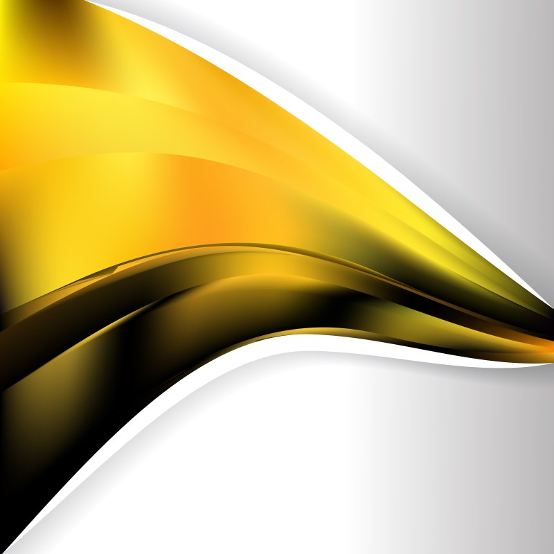Cool Yellow Wave Business Background Image