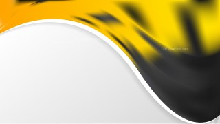Cool Yellow Wave Business Background