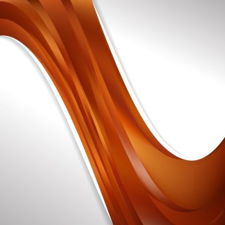 Abstract Copper Color Wave Business Background Design Template
