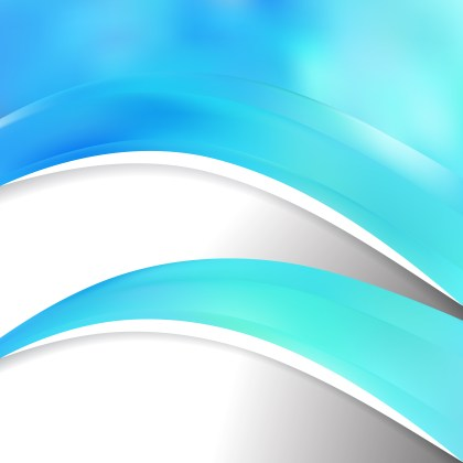 Abstract Cyan Wave Business Background Vector Image