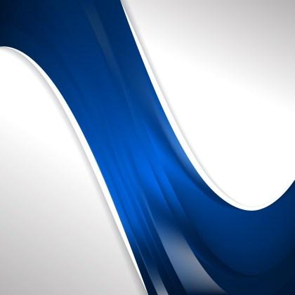 Dark Blue Wave Business Background Vector Illustration