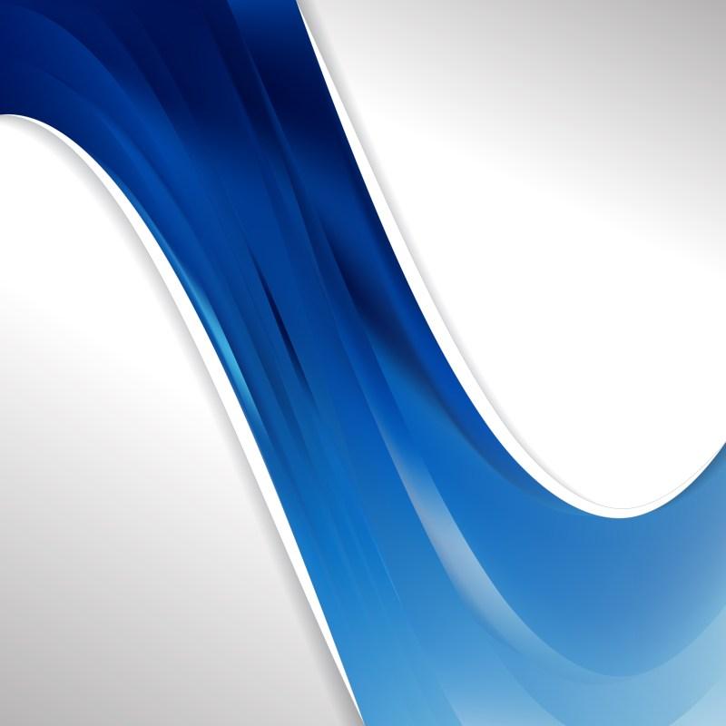 Abstract Dark Blue Wave Business Background Illustration