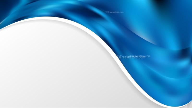 Dark Blue Wave Business Background