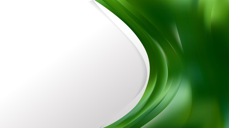 Dark Green Wave Business Background Image