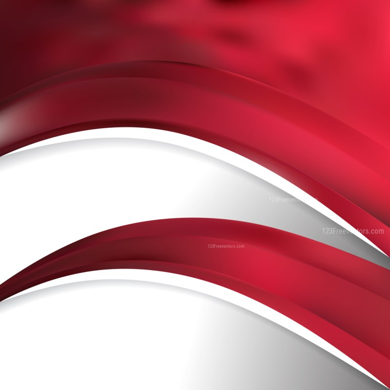 Abstract Dark Red Wave Business Background Vector Image