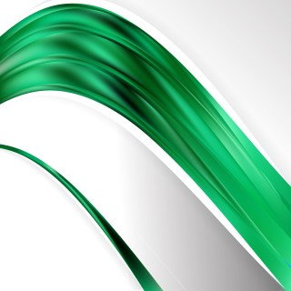 Abstract Emerald Green Wave Business Background Vector Image
