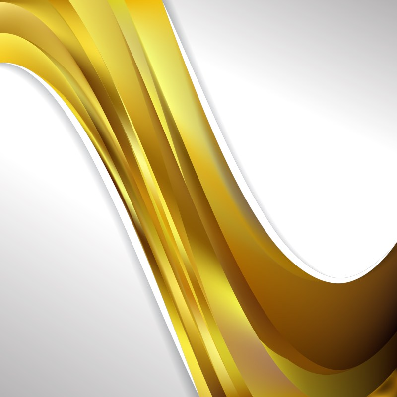Gold Wave Business Background Image
