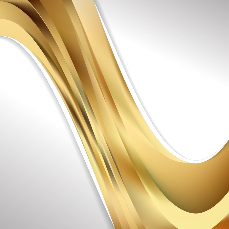 Abstract Gold Wave Business Background Vector Image