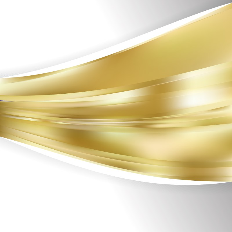 Abstract Gold Wave Business Background Illustration