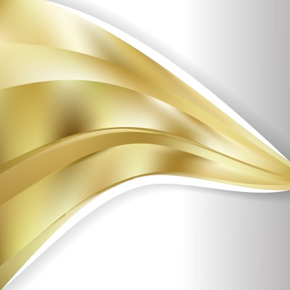 Abstract Gold Wave Business Background
