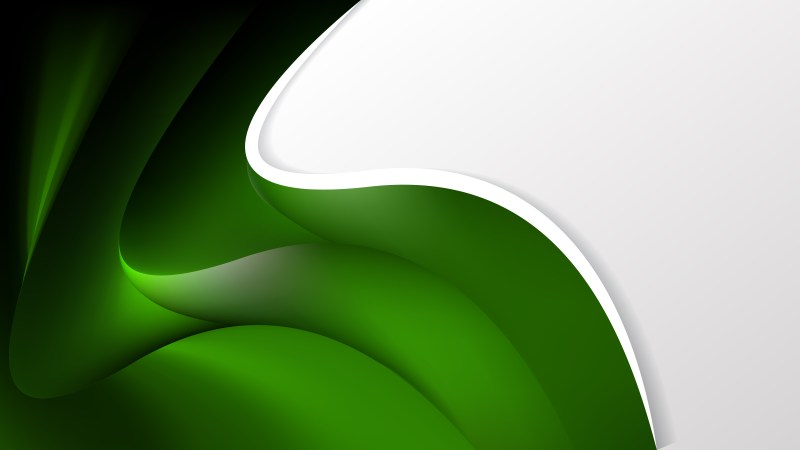 Abstract Green and Black Wave Business Background