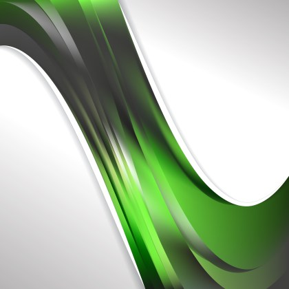 Abstract Green and Black Wave Business Background Illustration