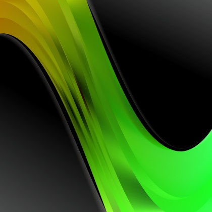 Green and Black Wave Business Background Image