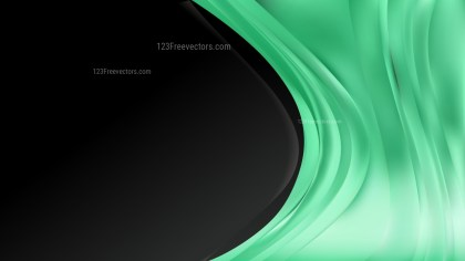 Abstract Green and Black Wave Business Background Vector Image