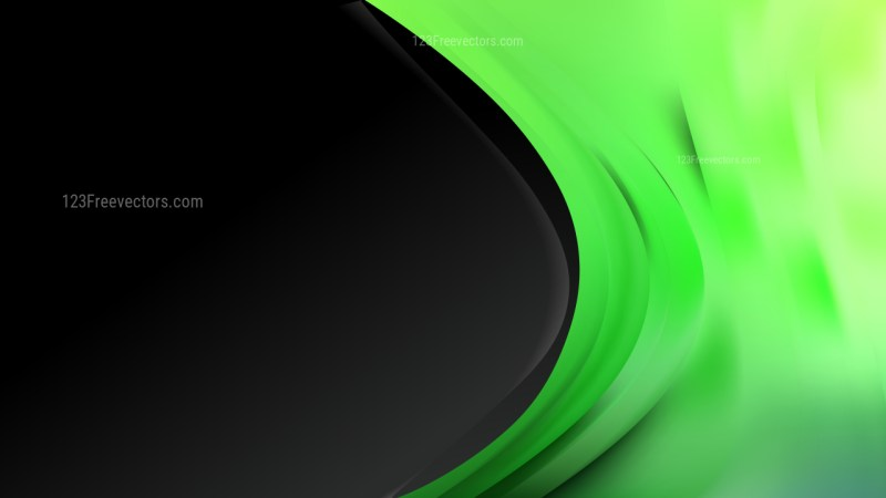 Green and Black Wave Business Background Vector Art