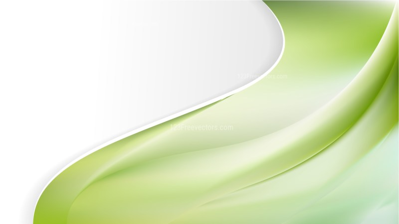 Green and White Wave Business Background Image