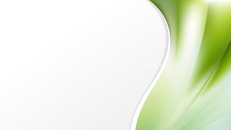 Abstract Green and White Wave Business Background Vector Image