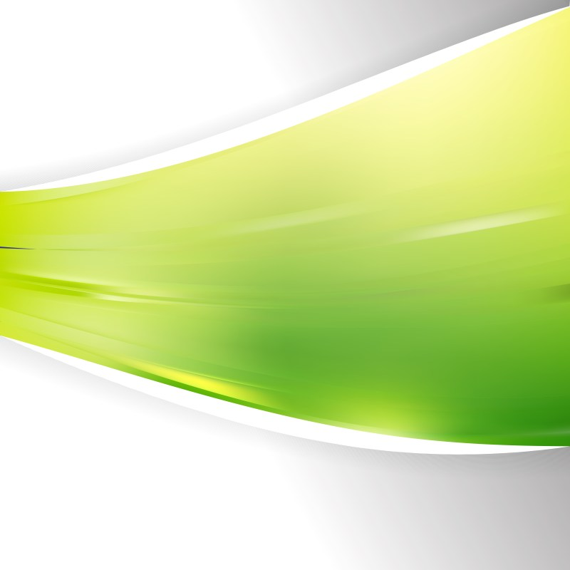 Abstract Green and Yellow Wave Business Background