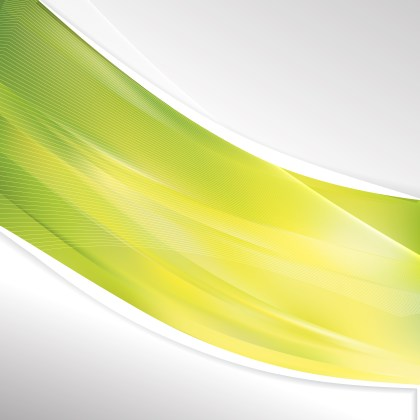 Abstract Green and Yellow Wave Business Background Vector Image