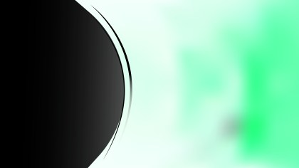 Green Black and White Wave Business Background