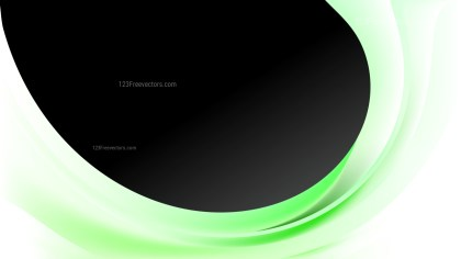 Abstract Green Black and White Wave Business Background Illustration