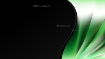 Abstract Green Black and White Wave Business Background