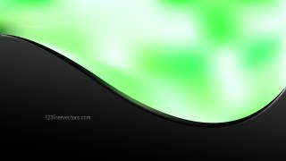 Abstract Green Black and White Wave Business Background Vector Image