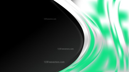 Green Black and White Wave Business Background Vector Illustration