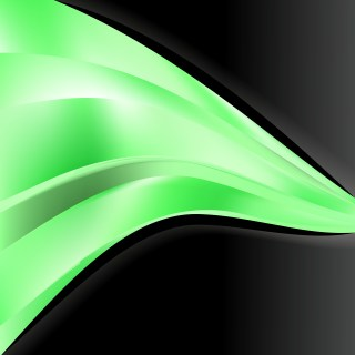 Abstract Green Black and White Wave Business Background Design Template