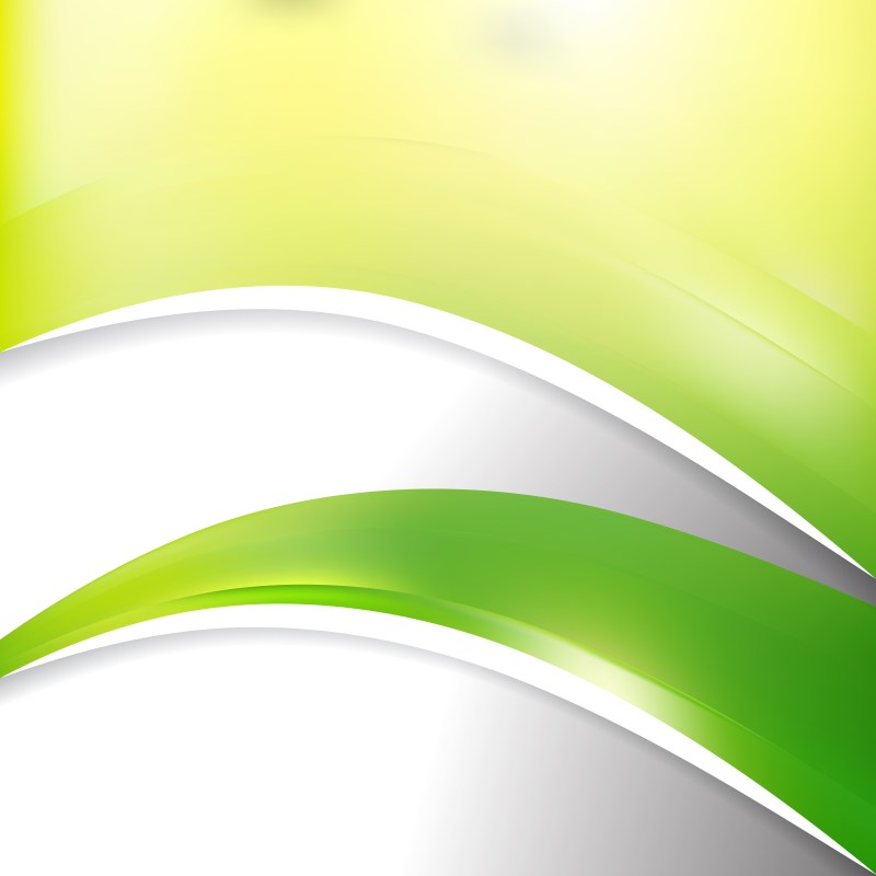 Green Yellow and White Wave Business Background