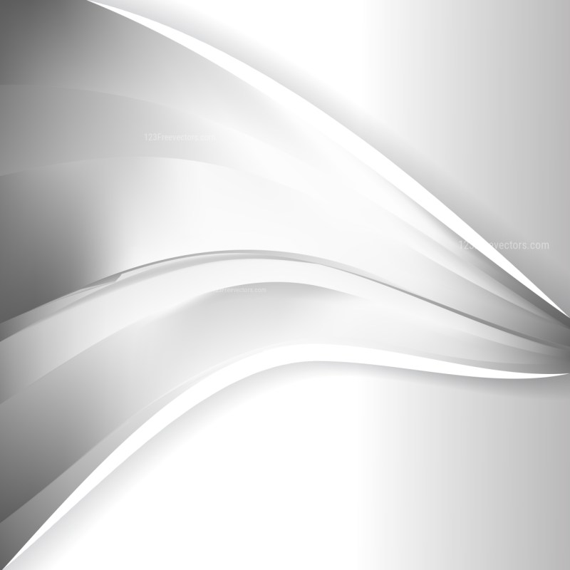 Grey and White Wave Business Background Vector Art