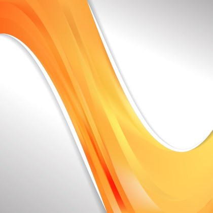 Abstract Orange Wave Business Background