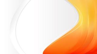 Orange Wave Business Background Vector Illustration