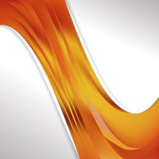 Orange Wave Business Background Image