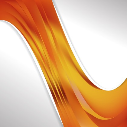 Orange Wave Business Background Image