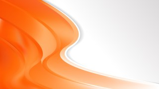 Orange Wave Business Background Vector Art