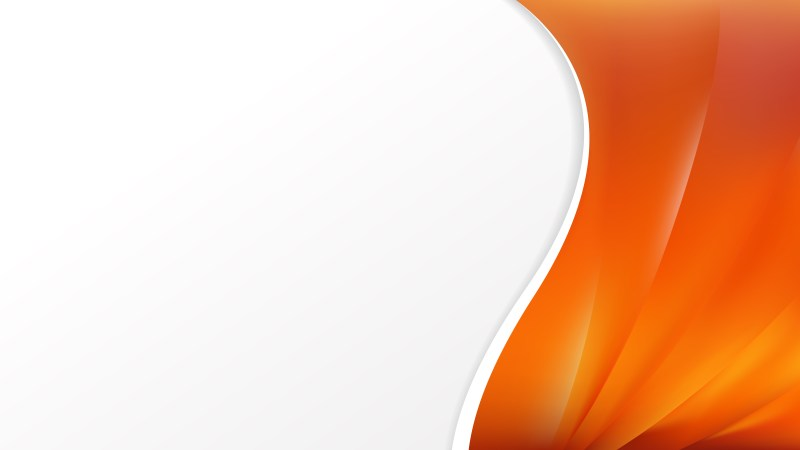 Abstract Orange Wave Business Background Vector Image