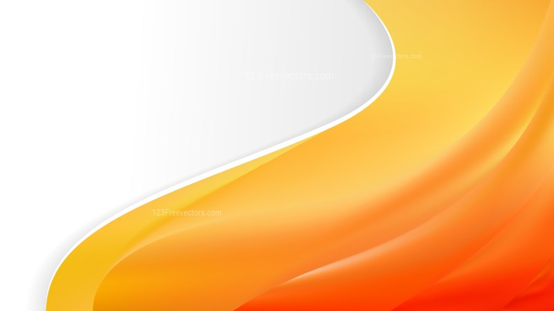 Abstract Orange Wave Business Background Design Template