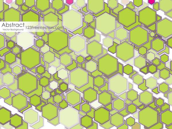 Green Polygon Shape Background Illustrator