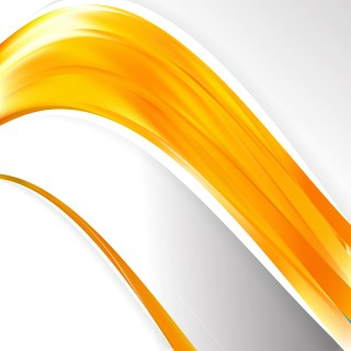 Abstract Orange Wave Business Background Illustration
