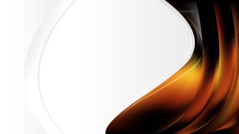 Orange and Black Brochure Design Template