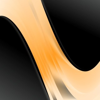 Orange and Black Wave Business Background