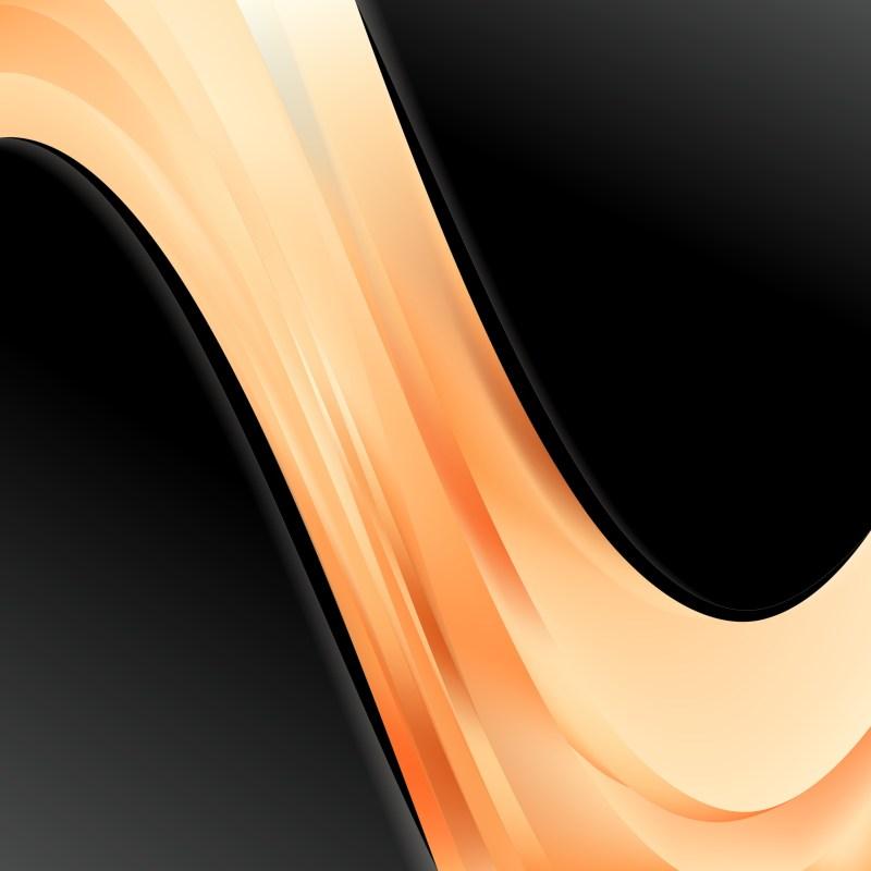 Orange and Black Wave Business Background Vector Illustration