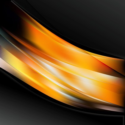 Abstract Orange and Black Wave Business Background Illustration