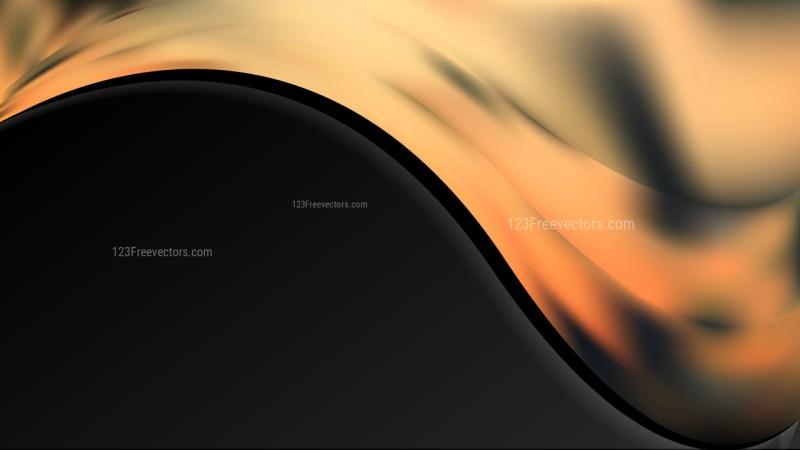Orange and Black Background Template