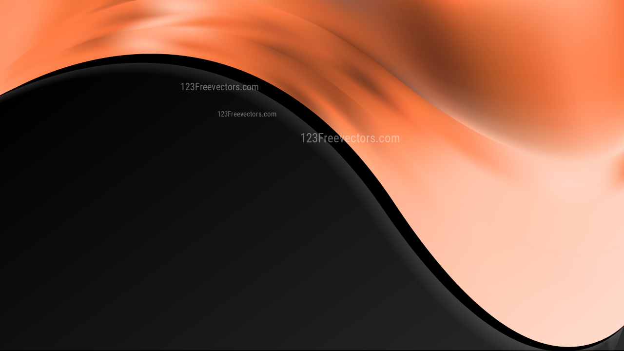 Abstract Orange and Black Wave Business Background Vector Image